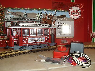 Lgb 72351 Red Christmas Trolley Starter Set! Complete & New In Original Box!!