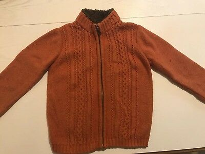 hanna andersson 110 zip-up sweater