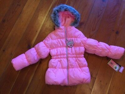 New Girls Pink Puffer Bubble Winter Coat Jacket 5 6 Protection System NWT