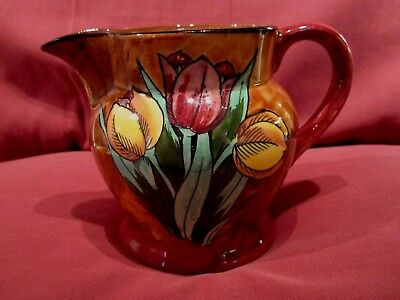 Beautiful Vintage H.k. Tunstall Tuliptime Design Art Deco 1930's Decorative Jug