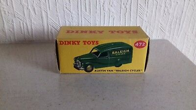 Dinky Toys 472 Raleigh Cycles Austin Van Empty Box Original Rare