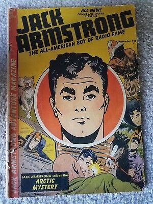 Jack Armstrong Comic Book 1St Issue 1947 Very Rare