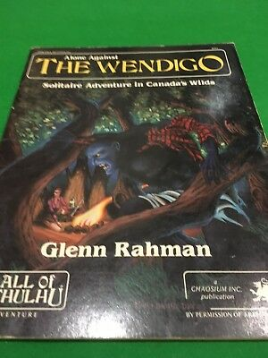 Alone Against The Wendigo For Call Of Cthulhu RPG