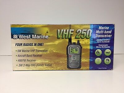 West Marine VHF250 DSC Handheld Marine Radio Submersible Waterproof