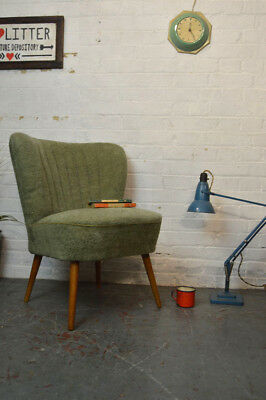 1 x Vintage Mid Century Cocktail Chair Lounge Armchair