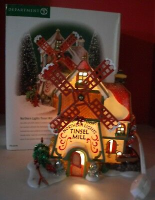 Department 56 North Pole Series Northern Lights Tinsel Mills # 56.56704 Read SC