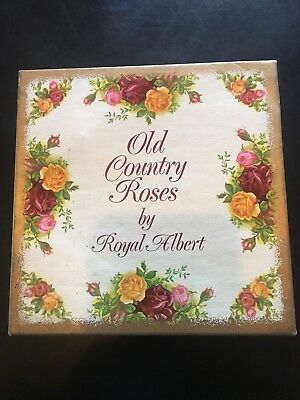 Royal Albert Old Country Roses Cigarette Box and Two Trays