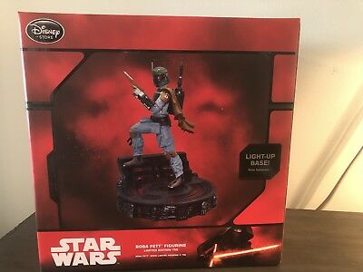 DISNEY STORE STAR WARS BOBA FETT FIGURINE MAY 4th LIMITED EDITION OF 750 NIB