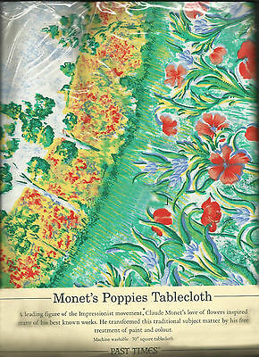 Monet's Poppies Tablecloth and napkins - made in England