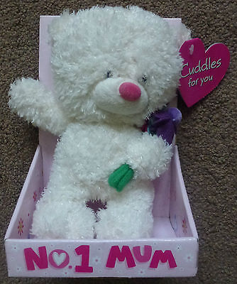 Cuddles Soft Toy Holding Flowers For Number 1 Mum A Very Well Made Toy