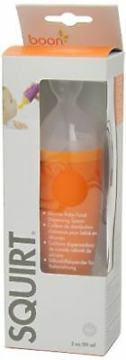 Boon Squirt Silicone Baby Food Dispensing Spoon Squeeze Orange