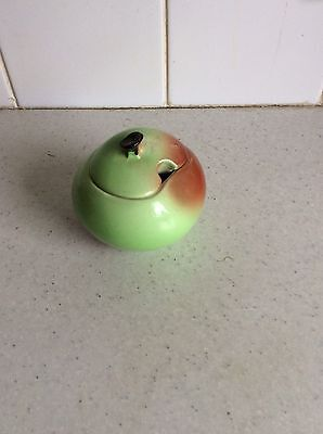 Carlton Ware Apple Sauce Pot With Lid- Hand Painted Australian Design