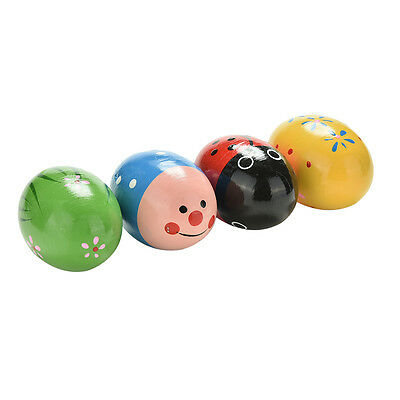 Wooden Sand Eggs Children Kids Baby Educational Instruments Musical Toys FO