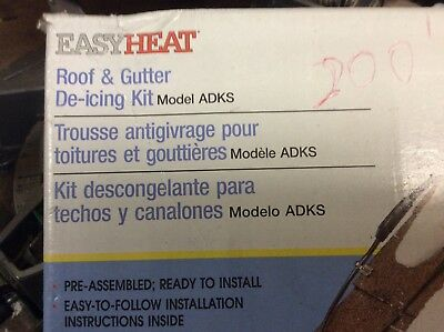 roof heating cables easy heat 380' feet with auto sensor ice dam preventionADKS