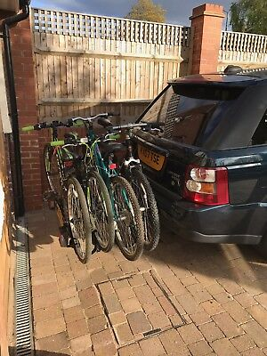 Tow Bar Mounted 4 Bike Rack / Cycle Carrier (set up for Range Rover Sport)