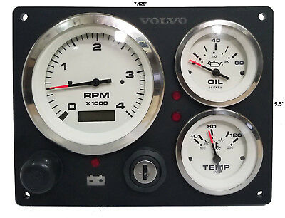 **Volvo penta Engine Marine instrument Panel B type USA Made Alternator Pick Up