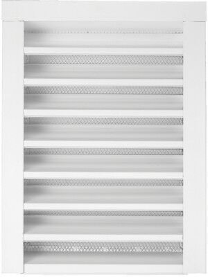 Gable Vent Attic Nailing Flange Paintable White Finish Rectangle Steel 12X18 In.