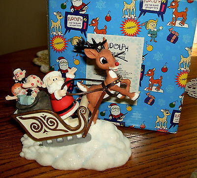 Enesco Rudolph And The Island Of Misfit Toys Sleigh Figurine Sled 857947