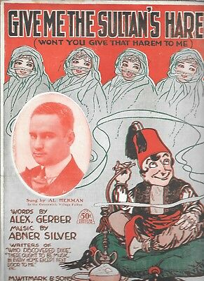 Give Me The Sultan's Harem, 1919, Al Herman on the cover, by Gerber and Silver
