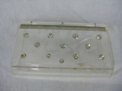 Vtg 30s 40s Clear Lucite Womens Vintage Maxim Jeweled Compact Purse