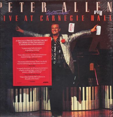 Peter Allen Captured Live At Carnegie Hall STILL SEALED! NEW OVP 2xVinyl LP
