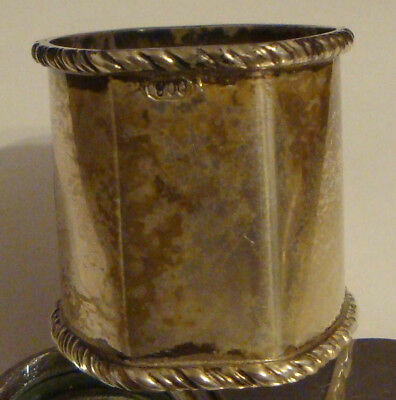 2 -  800 SILVER - NAPKIN HOLDERS - marked LOUIS & ROSE