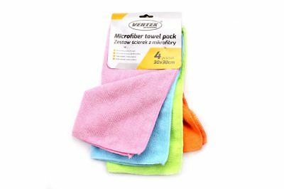 Vertex Microfibre Cleaning Cloth All-Purpose Wipe Dust 4ST