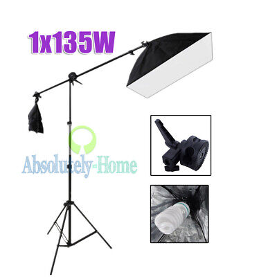 Studio Photo Reflector Disc Boom Holder Arm with Swivel Head + 2.1m Light Stand