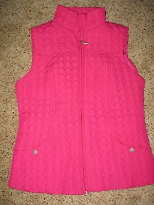 Nwot Pink Fuscia Quilted Women's Vest Small
