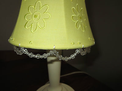 Yellow  Embroidered Flower Lamp for Girls