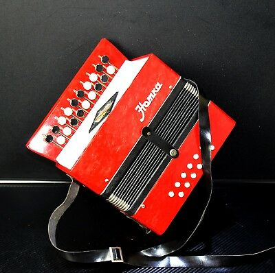 EXCELLENT CLASSIC BUTTON CHROMATIC ACCORDION / BAYAN 19x12 buttons~for kids~TOY!