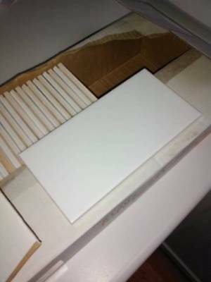 100mm x 200mm white gloss Johnson wall tiles x30