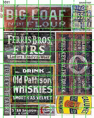 1011 Dave's Decals Ghost Sign Flour Fur Whiskey Soda And More Combine Shipping