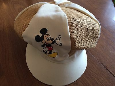 Vintage New Mickey Mouse Cabbie Newsboy Cap Hat Walt Disney Productions USA