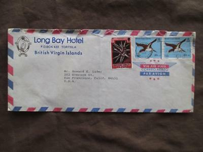 1980 British Virgin Islands To USA Cover From Long Bay Hotel - Birds (VV155)