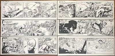 GIL KANE x6! SIGNED ORIGINAL ART STAR HAWKS FULL WEEK McKenzie March 9-14, 1981
