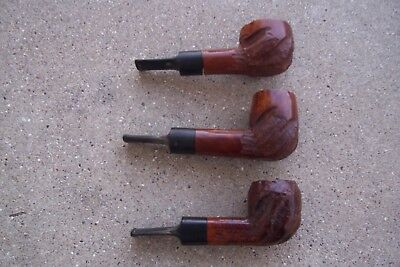 Lot of 3 Custombilt Briar Smoking Pipes From Estate