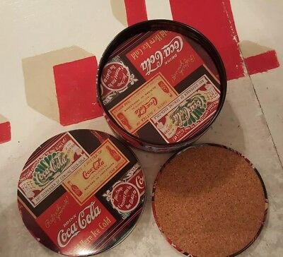 Old Fashioned Coca Cola Coasters With Tin Six In A Set