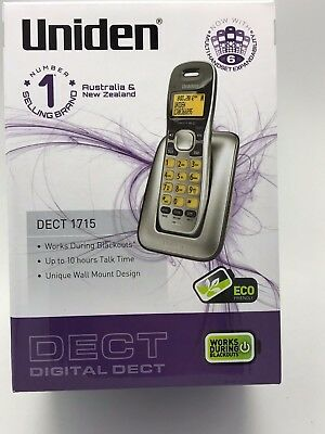 Uniden DECT 1715 Digital Phone System With Power Backup Failure - NEW