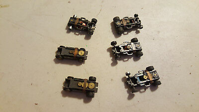 HO SLOT CAR Chassis Mixed Lot of 6