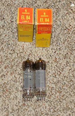 M.  Pair Nos In Box  Siemens 6Bq5 - El84 Tubes #1