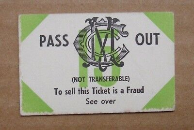 Vintage MELBOURNE CRICKET CLUB MEMBER Pass Out Ticket - Brooke's Drinks Advert