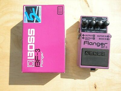 Boss BF-3 BF3 Flanger Guitar Pedal with Box