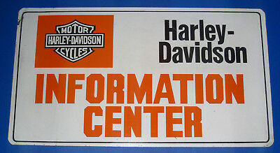 Vintage Harley Davidson Info Center Motorcycle Double Sided Advertising Sign