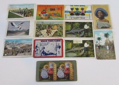 Lot 11 Black America Postcards Ethnocentric Comic Uncle Tom's Cabin Playbill etc