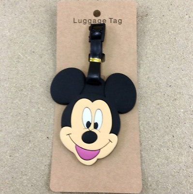 1 X Disney Mickey Mouse PVC Luggage Labels Tags Holiday Travel Baggage Tags