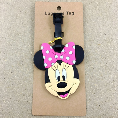 1 X Disney Minnie Mouse PVC Luggage Labels Tags Holiday Travel Baggage Tags