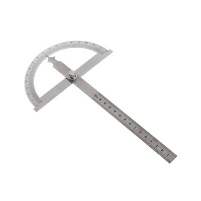 180 Degree Stainless Steel Protractor Angle Finder Rotary Measuring Ruler 150mm