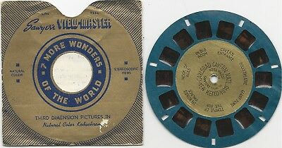 Viewmaster - Sawyer's Blue Reel With Gold Foil Center Carlsbad Caverns #251