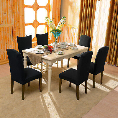 Stretch Dining Room Chair Slipcovers subrtex dyed jacquard stretch dining room chair slipcovers - $17.99